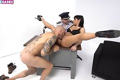 asshole,babe,babes,blowjob,closeup,cock,lick,piercing,police,pussy,threesome,throat,vagina,woman,